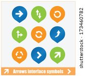 arrows interface symbols set...