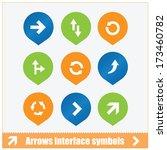 arrows interface symbols set...