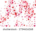 red flying hearts bright love... | Shutterstock .eps vector #1734616268