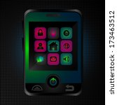 abstract vector phone with...