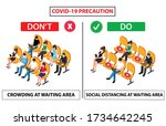 do and don't poster of covid 19 ... | Shutterstock .eps vector #1734642245