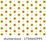 Pattern Of Bright Pink And...