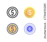 coin icon pack isolated on...