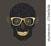 funny  candy skull illustration ... | Shutterstock . vector #173465636