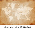 vintage world map | Shutterstock . vector #17346646