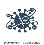silver ions acting emblem  ... | Shutterstock .eps vector #1734670832
