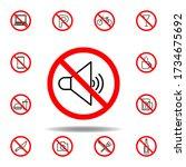 forbidden sound icon. set can...