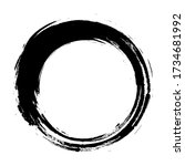 black abstract grunge circle....   Shutterstock .eps vector #1734681992