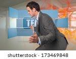 businessman posing with hands... | Shutterstock . vector #173469848