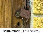 Antique Textured Door And Rusty ...