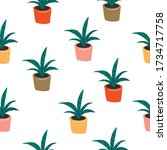 Seamless Pattern With House...