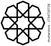 islamic pattern symbol icon ...   Shutterstock .eps vector #1734720728