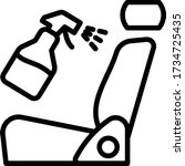 car seat with cleaning sprayer... | Shutterstock .eps vector #1734725435