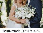 Close Up Of A Bride S Bouquet...