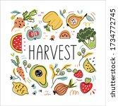 harvest vector illustration.... | Shutterstock .eps vector #1734772745
