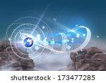 rocky landscape against rocky... | Shutterstock . vector #173477285