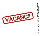 vacancy grunge rubber stamp on... | Shutterstock .eps vector #1734820175