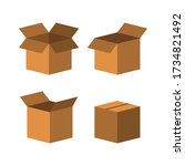 carton delivery packaging open... | Shutterstock .eps vector #1734821492