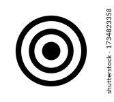 target icon symbol vector on...   Shutterstock .eps vector #1734823358