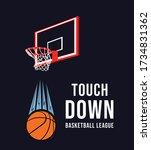 basketball graphic design for t ... | Shutterstock .eps vector #1734831362