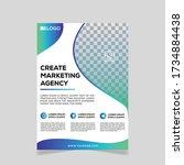 creative business flyer... | Shutterstock .eps vector #1734884438