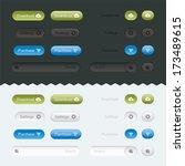 website buttons set  sign ...