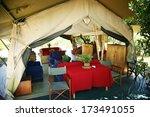 Inside Of Safari Tent Masai...