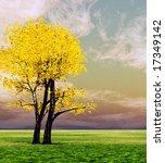 autumn tree | Shutterstock . vector #17349142