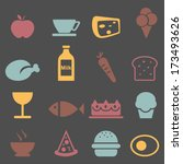 food icons set.vector  | Shutterstock .eps vector #173493626