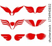 angel wings vector icon on... | Shutterstock .eps vector #1734940832