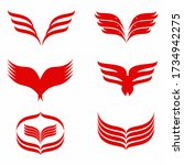 angel wings vector icon on... | Shutterstock .eps vector #1734942275