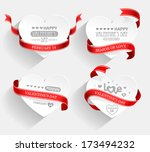 emblems with hearts and red... | Shutterstock .eps vector #173494232