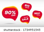 discount sticker. sale red tag... | Shutterstock .eps vector #1734951545