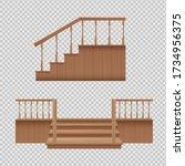 Wooden Porch Staircase Set  ...