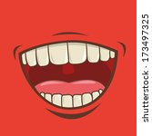 mouth design over red ... | Shutterstock .eps vector #173497325