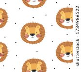 seamless pattern with cute... | Shutterstock .eps vector #1734986522