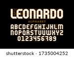modern font design based on... | Shutterstock .eps vector #1735004252
