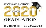 congratulations on class of... | Shutterstock .eps vector #1735012955