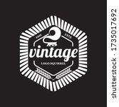 vintage style logo emblem with... | Shutterstock .eps vector #1735017692