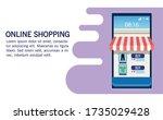 banner shopping online with... | Shutterstock .eps vector #1735029428