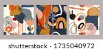set of vector colorful collage... | Shutterstock .eps vector #1735040972
