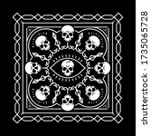 eye of death bandana with... | Shutterstock .eps vector #1735065728