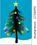 vector christmas tree with... | Shutterstock .eps vector #1735093