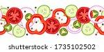 seamless horizontal border... | Shutterstock .eps vector #1735102502