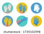 set of rubber medical... | Shutterstock .eps vector #1735102598