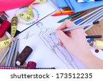 fashion designer close up | Shutterstock . vector #173512235