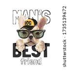 man's best friend slogan with... | Shutterstock .eps vector #1735139672