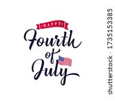 vector fourth of july lettering ... | Shutterstock .eps vector #1735153385