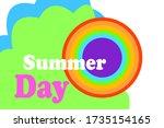 summer background design... | Shutterstock .eps vector #1735154165