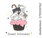 draw vector character design... | Shutterstock .eps vector #1735154762